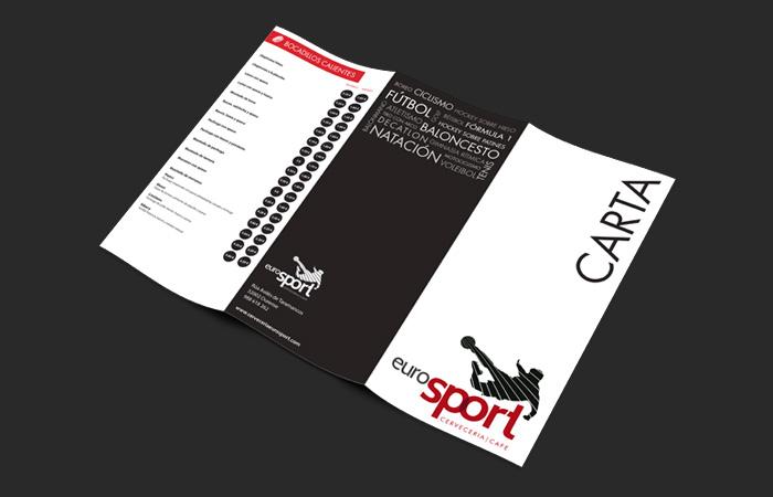 Cartas de hostelería Eurosport