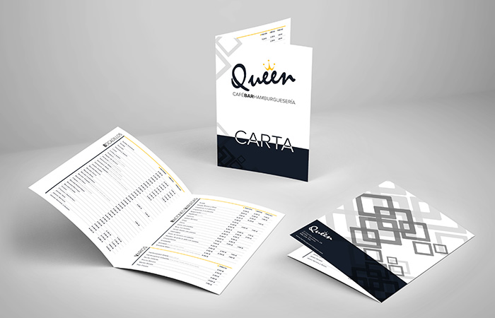 Cartas de hostelería Queen